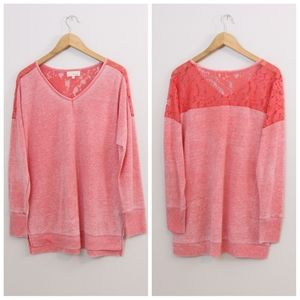 Dept 222 Heathered Lace Top